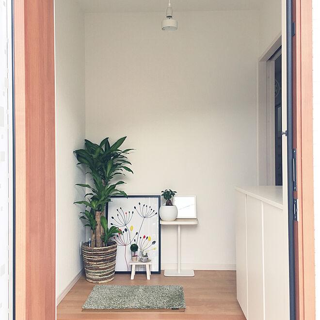 玄関/入り口/ナチュラル/北欧/観葉植物/無印良品...などのインテリア実例 - 2017-09-22 11:39:54