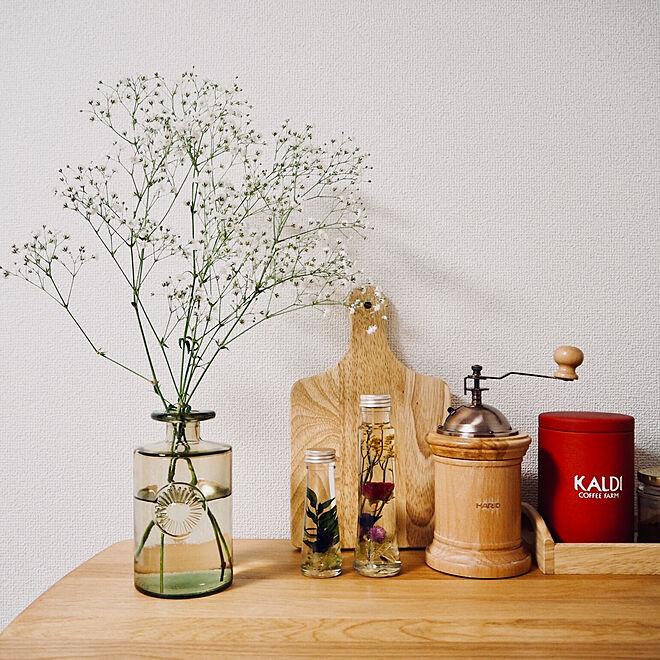 棚/ハーバリウム/かすみ草/カスミソウ/アクタスの花瓶...などのインテリア実例 - 2018-03-23 22:05:51