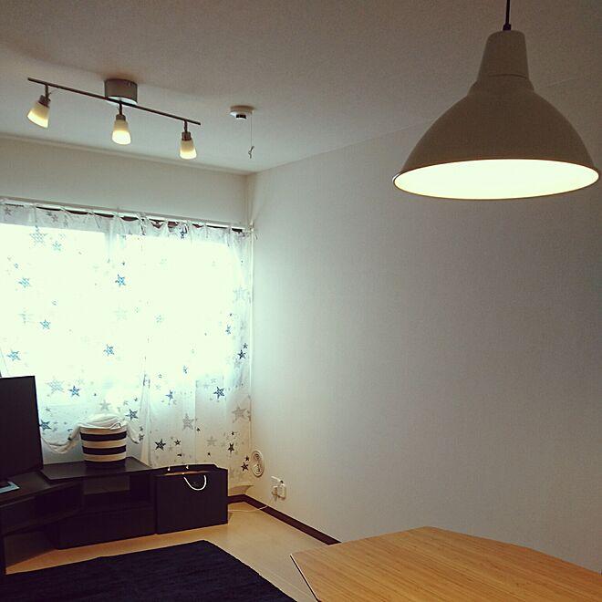 部屋全体/1LDK/二人暮らし/星モチーフ/IKEA 照明...などのインテリア実例 - 2017-03-06 23:35:35