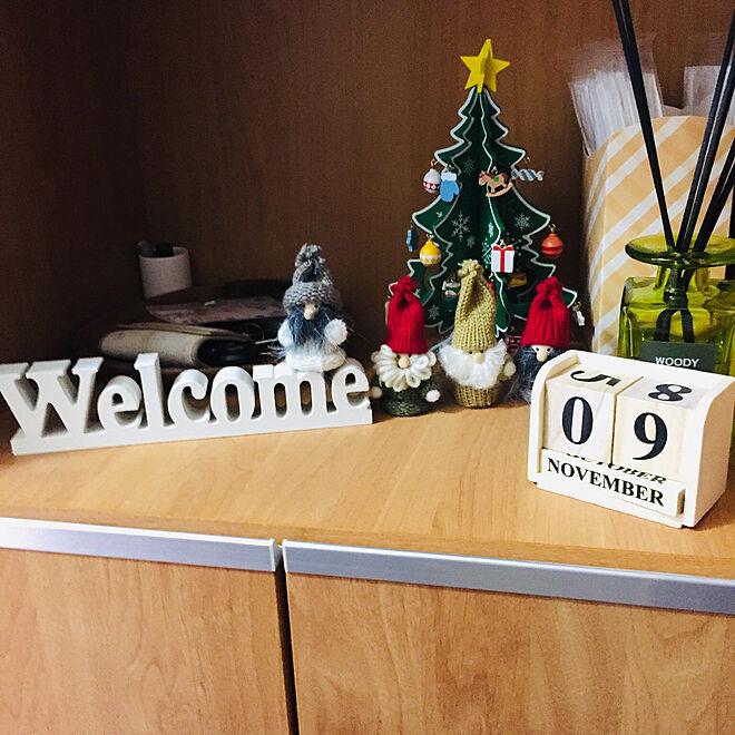 Christmas/3COINS/100均/雑貨/玄関/入り口のインテリア実例 - 2019-11-25 23:19:09
