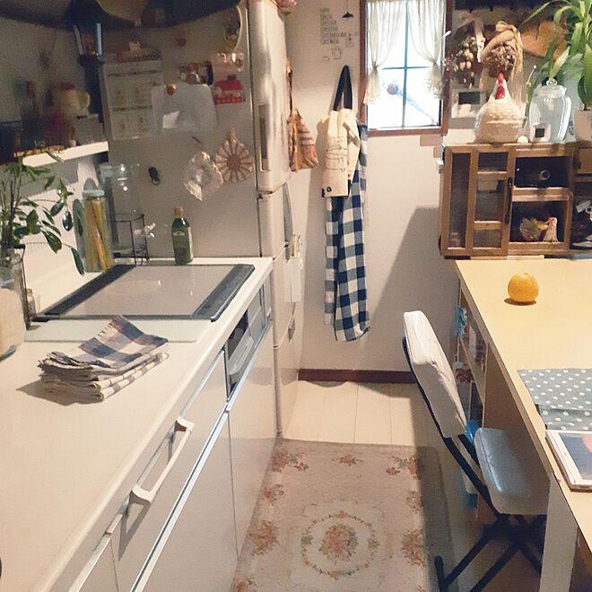キッチン/夜のキッチン/IKEA雑貨/キッチンマット/私の居場所♪のインテリア実例 - 2021-04-19 02:32:48
