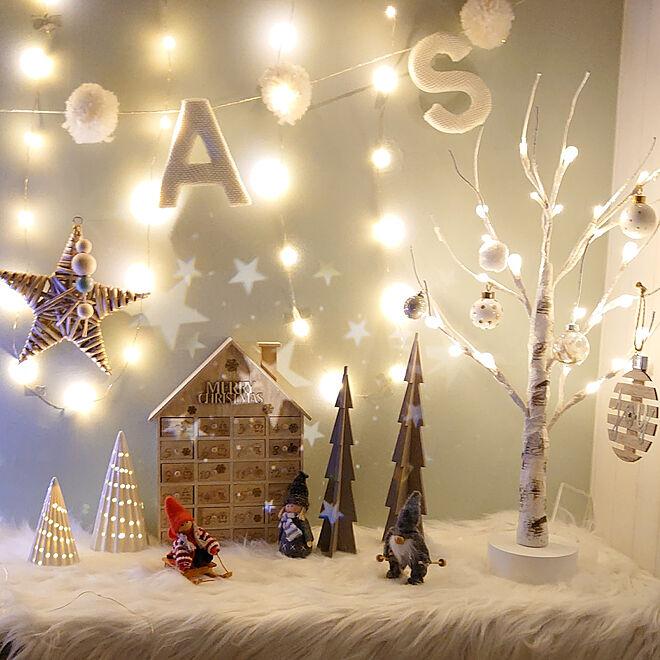 壁/天井/クリスマス/salut!/クリスマスディスプレイ/海外インテリアに憧れる...などのインテリア実例 - 2020-12-26 01:36:44