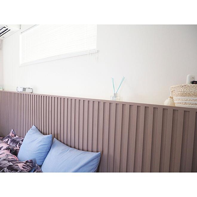 ふかし壁DIY/ふかし壁/寝室/ベッドボードDIY/ベッドボード...などのインテリア実例 - 2021-07-27 18:51:18