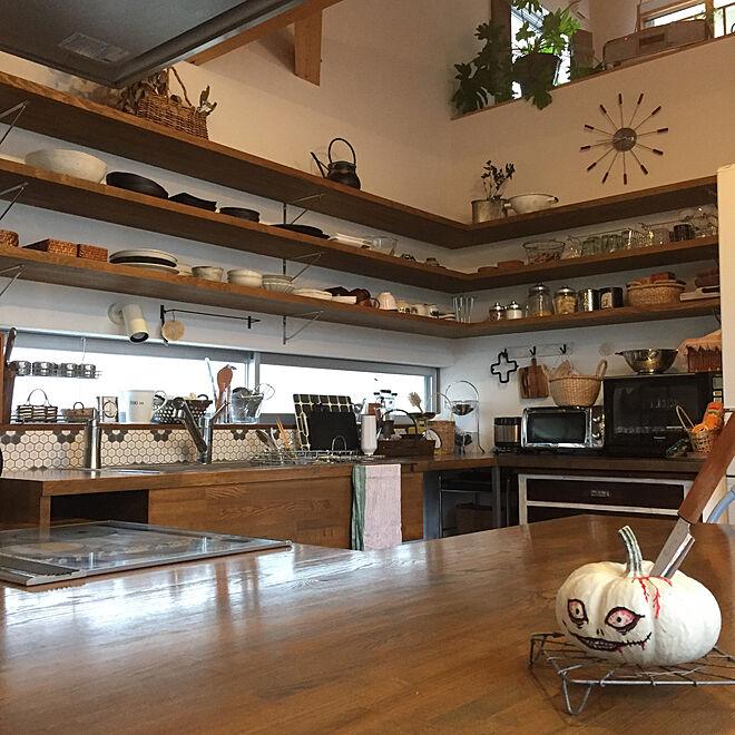 キッチン/みせる収納/オープン棚/オープンキッチン/たな...などのインテリア実例 - 2017-10-28 09:08:20