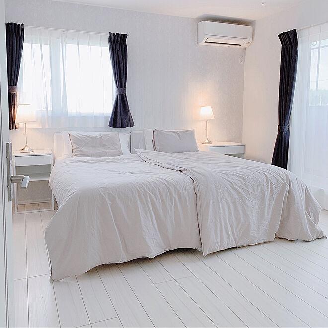ベッドルーム/寝具/北欧ナチュラル/H&M HOME/模様替え...などのインテリア実例 - 2021-05-16 15:48:42