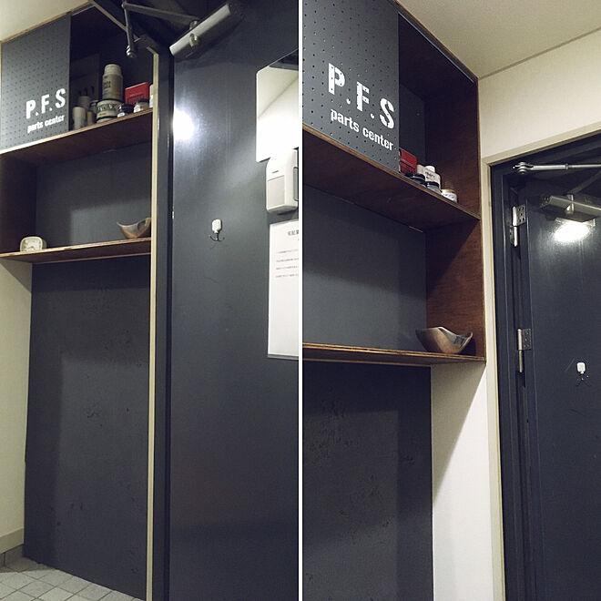 ディアウォール/収納棚DIY/有孔ボード DIY/男前/ステンシル修行中...などのインテリア実例 - 2019-11-16 23:20:58