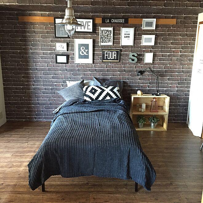 IKEA/フレームディスプレイ/元和室/ベッドルーム/団地リノベーション...などのインテリア実例 - 2016-01-19 18:16:05
