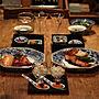 男性家族暮らし4LDK、古伊万里Kitchenやダイニングテーブルやワイングラスやうちごはんなどに関するKAZさんの実例写真