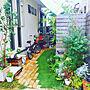 女性家族暮らし2LDK、ミモザ玄関/入り口や植物や庭やガーデニングなどに関するrisaさんの実例写真