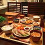 女性家族暮らし3LDK、Oisix机や無印良品や箸置きやおうちごはんなどに関するhiroさんの実例写真