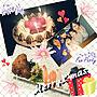 女性37歳の家族暮らし3DK、サンタ皿Kitchenやクリスマスやクリスマスケーキやダイソーなどに関するmiococo7さんの実例写真