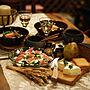 男性家族暮らし4LDK、東欧風キッチンや丸太やloyd's antiquesや作家物の器などに関するKAZさんの実例写真