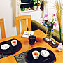 女性家族暮らし2LDK、食後のお茶時間My Deskや和や急須や中秋の名月などに関するtokimaさんの実例写真