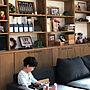 女性、手作り鯉のぼりMy Shelfやソファーや本棚やこいのぼりなどに関するt--ieさんの実例写真