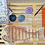 女性36歳の家族暮らし4LDK、木琴My ShelfやDIYやコースターや手作り雑貨などに関するwgmnh097さんの実例写真