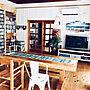 女性家族暮らし、PCとデスクトップOverviewやPCデスク周りやスチールチェアやCDラック DIYなどに関するmamyuさんの実例写真
