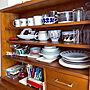 女性2DK、解放感のある部屋My Shelfや食器ディスプレイ棚や食器ディスプレイやbluebottleなどに関するYYさんの実例写真