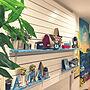男性34歳の家族暮らし3LDK、ディスプレイ迷う西海岸風や観葉植物やハワイアンテイストやいつでも夏気分などに関するtetsuさんの実例写真