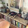 男性一人暮らし1DK、プランツMy Shelfや観葉植物やグリーンやアンティークなどに関するSHINPEIさんの実例写真