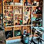 男性34歳の家族暮らし4LDK、木工DIYMy ShelfやDIYやガレージや車庫などに関するK.CRAFT.BASEさんの実例写真