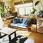 女性38歳の家族暮らし、大人サーフ部屋全体や観葉植物やソファーやMOMO natural などに関するmiyu2525さんの実例写真