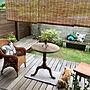 女性54歳の家族暮らし3LDK、KOTOSの家Entranceや観葉植物やマリメッコやウッドデッキなどに関するyukariさんの実例写真