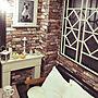 女性58歳の同棲2LDK、猫の絵リビングや窓枠DIYや猫の絵やデザインはpintarestからなどに関するcoconyantaさんの実例写真
