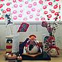女性40歳の家族暮らし4LDK、ドリームクッションパネル棚やダイソーや雑貨や100円均一などに関するkokkomachaさんの実例写真