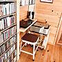 女性家族暮らし、セルフMy DeskやPCデスク周りやDIYや壁面収納などに関するmamyuさんの実例写真