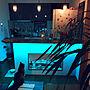 女性で、2LDKの酒棚/ラグ/ヘザーブラウン/ティピ/手作り/壁…などについてのインテリア実例を紹介。