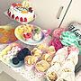女性42歳の家族暮らし、花束サラダMy Deskや子ども部屋や誕生日パーティーなどに関するcreamさんの実例写真