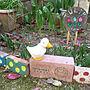 女性41歳の家族暮らし、春のお庭Entranceや端材やチューリップや春のお庭などに関するbimoさんの実例写真