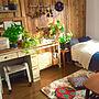 一人暮らし1K、一人暮らし 1K部屋全体や観葉植物やラグやDIYなどに関するaikoさんの実例写真