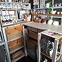 女性一人暮らし1LDK、DIY ダイソー DIY棚Kitchenや無印良品やダイソーやカラーボックスなどに関するmino64coさんの実例写真