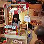 女性家族暮らし3LDK、楽器のおもちゃOverviewや子供部屋の一角や3人の子どもたちと暮らすやおもちゃ棚DIYなどに関するsawa.co.さんの実例写真