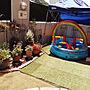 、ガーデニング 庭 お庭Entranceやガーデニングや100均DIYや暑さ対策などに関するrietanさんの実例写真