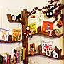 女性家族暮らし3LDK、読書スペースMy Shelfやハロウィンや読書スペースやイベント用などに関するakatukiyukiさんの実例写真
