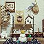 女性42歳の家族暮らし4LDK、tomotomo325さんの作品❤My Shelfやかごや手作り雑貨やsalut!などに関するtwinsさんの実例写真