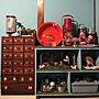 女性家族暮らし、漢方My Shelfや人工芝やオールドキャビネットブルーやイマジンウォールペイントなどに関するkoyukiさんの実例写真