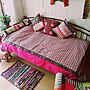 女性3LDK、ベルメゾンBedroomや子供服やユザワヤ♡やベルメゾンなどに関するmegumaguさんの実例写真