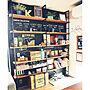 女性35歳の家族暮らし3LDK、黒板アート棚やウォールステッカーや古道具やカフェ風などに関するmayukamuさんの実例写真
