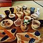 女性家族暮らし、セダムMy Shelfや小物を楽しむ暮らしや陶芸や遊びごころなどに関する325unさんの実例写真