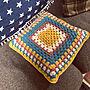 女性家族暮らし、優しい色合い♡Entranceや編み編みやかぎ針編みやクッションカバーなどに関するmiiko3さんの実例写真