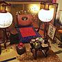 男性21歳の家族暮らし3LDK、お膳机や座布団や和風や和モダンなどに関するtakakuzenさんの実例写真