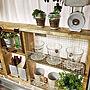 女性家族暮らし1LDK、DIY棚キッチンやナチュラルやインテリアや雑貨などに関するyriiiiik815さんの実例写真