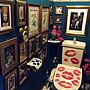 女性家族暮らし3LDK、クロネットドールBathroomやイマジンウォールペイントや壁紙屋本舗やボタニカルアートなどに関するokyame-chanさんの実例写真