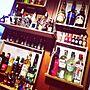 男性24歳の家族暮らし3LDK、酒My Shelfや酒やDIYやディスプレイなどに関するnasubicomさんの実例写真