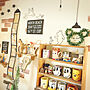 女性家族暮らし4DK、bimoちゃんからのスイーツマイクBedroomやダイソーやマグカップコレクションやマグカップなどに関するARIさんの実例写真