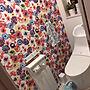 女性31歳の家族暮らし、派手好きBathroomや花柄クロスや派手好きやトイレなどに関するna0_homeさんの実例写真