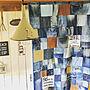 、レザータグ玄関/入り口やダイソーや照明やナチュラルなどに関するren15non25さんの実例写真